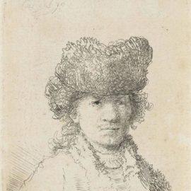 Rembrandt van Rijn-Self-Portrait In A Fur Cap: Bust-1630