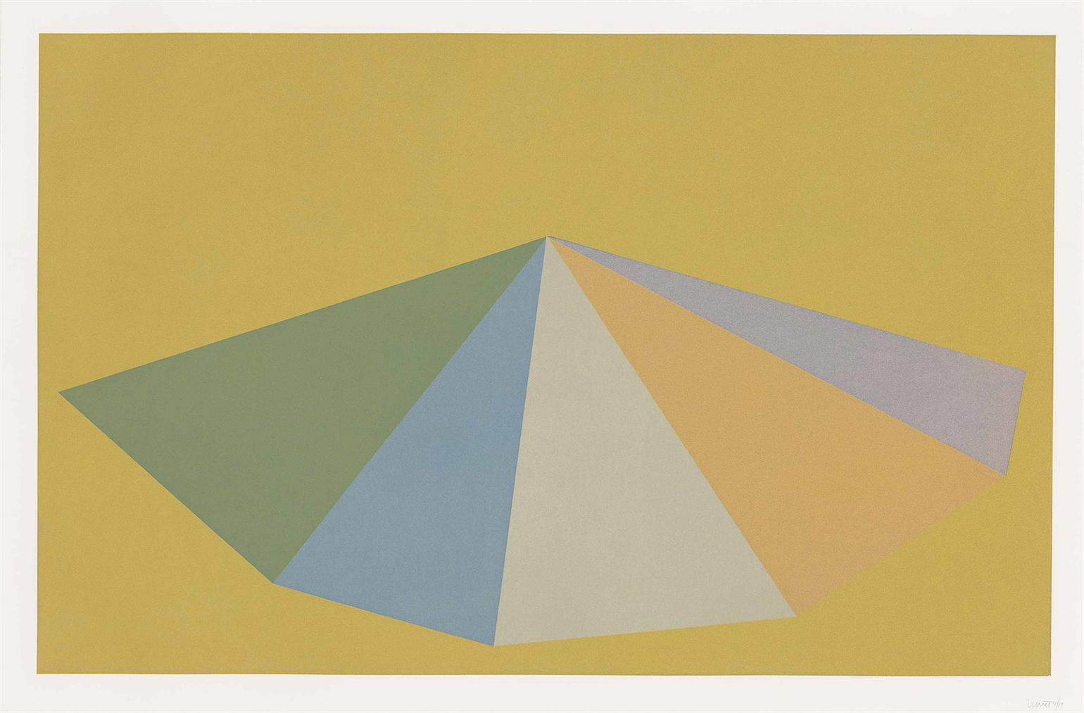 Sol LeWitt-Plate 3, From: Pyramids-1987