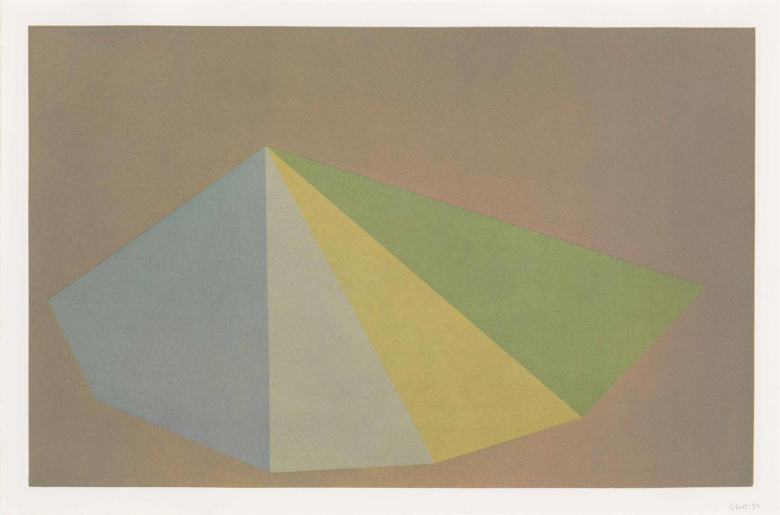 Sol LeWitt-Plate 2, From: Pyramids-1987