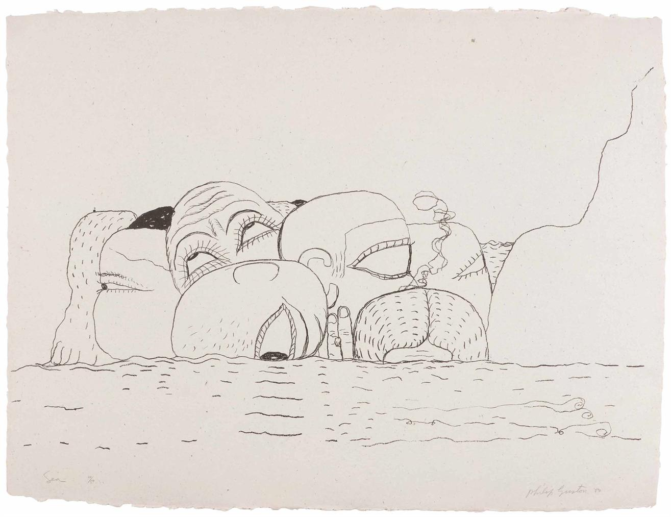 Philip Guston-Sea-1980