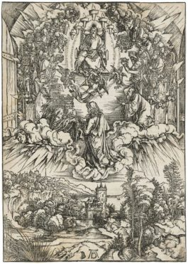 Albrecht Durer-Saint John Before God And The Elders, From: The Apocalypse-1496