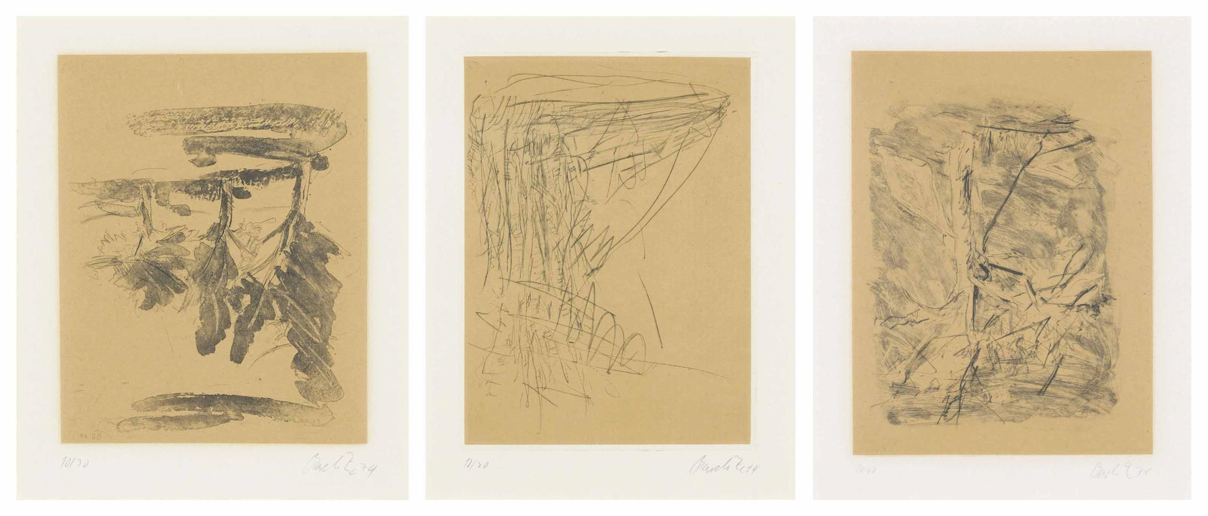 Georg Baselitz-Eighteen Plates, From: Baume-1974