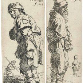 Rembrandt van Rijn-A Peasant Calling Out: Tis Vinnich Kout; And A Peasant Replying: Dats Niet-1634