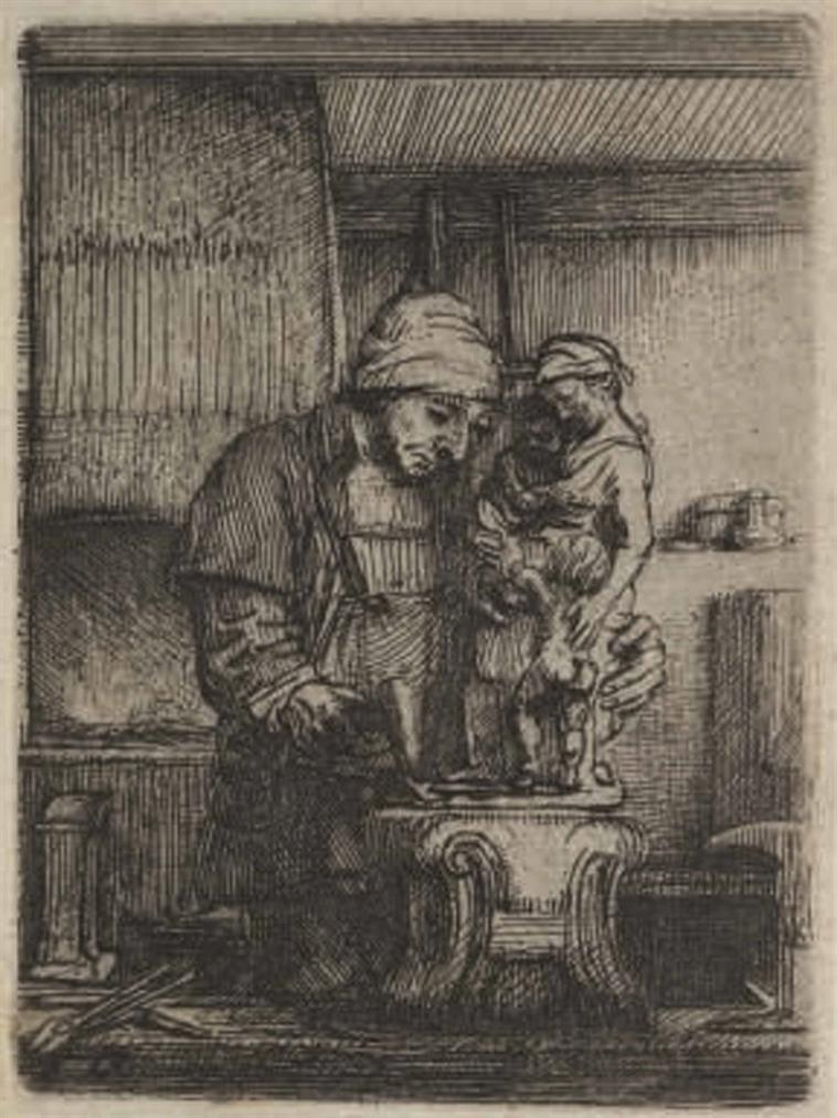 Rembrandt van Rijn-The Goldsmith-1655