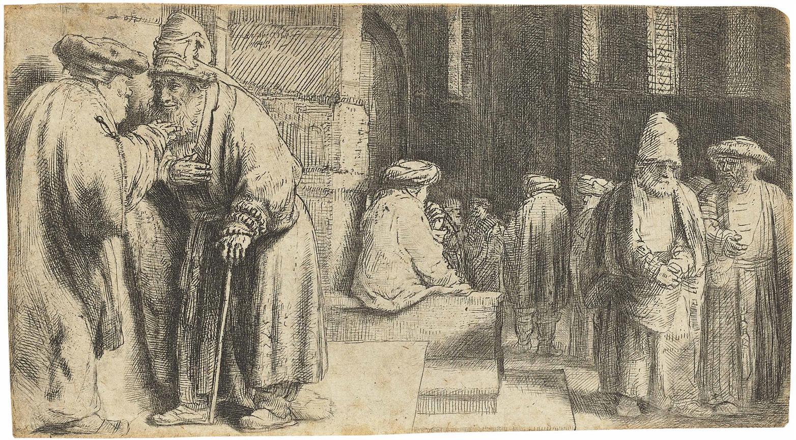 Rembrandt van Rijn-Jews In The Synagogue-1648