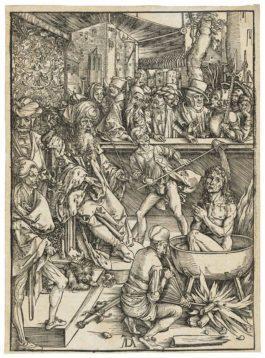 Albrecht Durer-The Martyrdom Of Saint John, From: The Apocalypse-1497