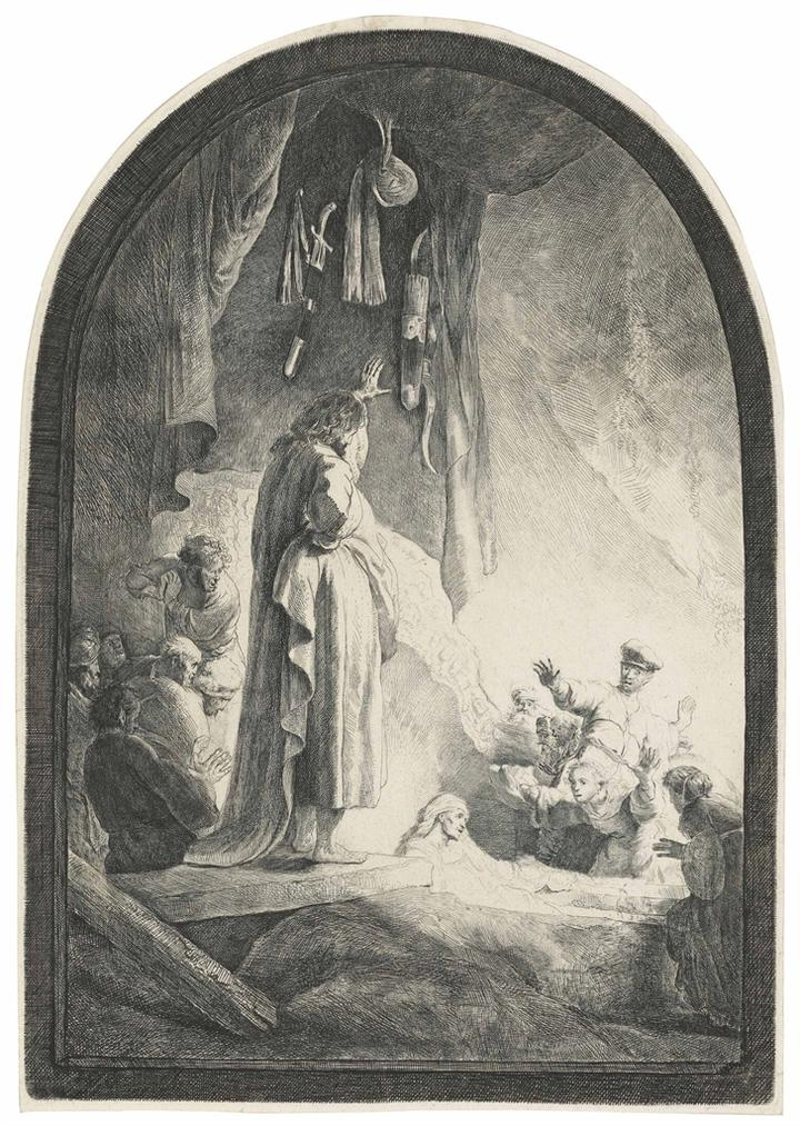 Rembrandt van Rijn-The Raising Of Lazarus: The Larger Plate-1632