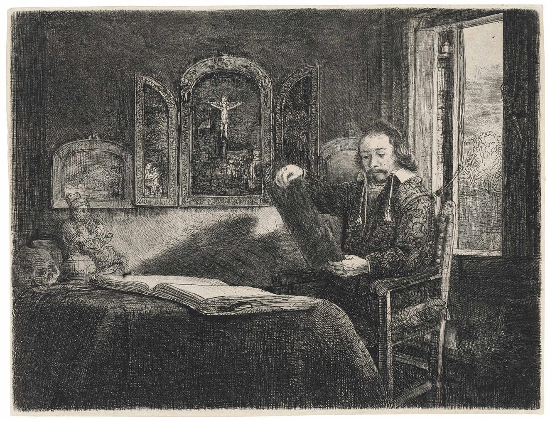 Rembrandt van Rijn-Abraham Francen, Apothecary; Cardinal Albrecht of Brandenburg (the Small Cardinal)-1657