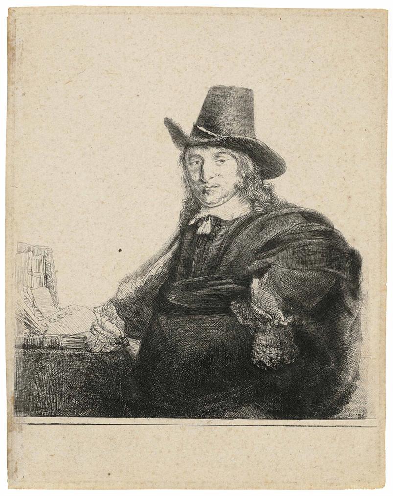 Rembrandt van Rijn-Jan Asselijn, Painter (Krabbetje)-1637