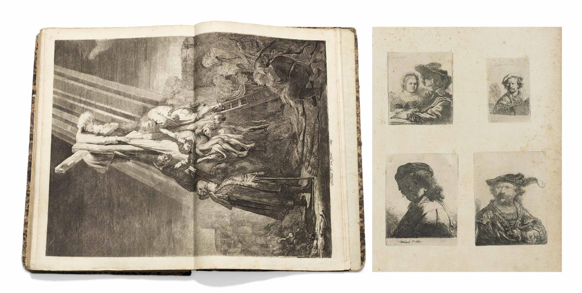 Rembrandt van Rijn-Recueil De Quatre-Vingt-Cinq Estampes Originales, Tetes, Paysages Et Differents Sujet, Dessinees Et Gravees Par Rembrandt-