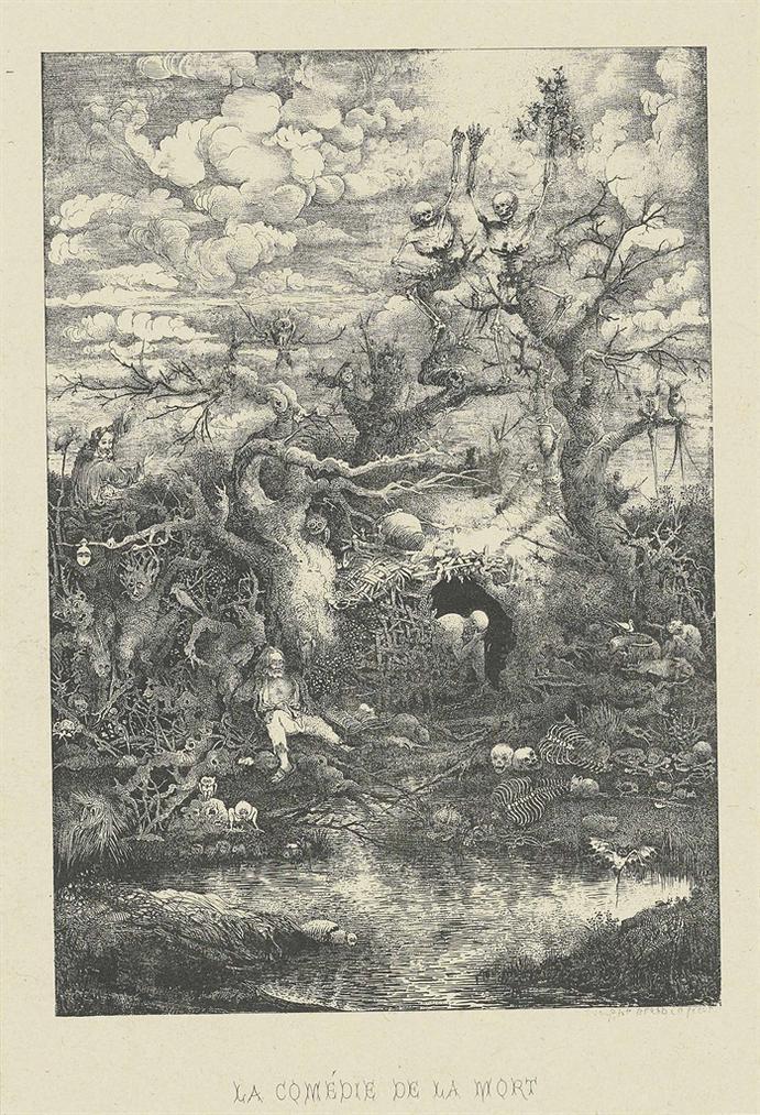 Rodolphe Bresdin-La Comedie De La Mort-1854