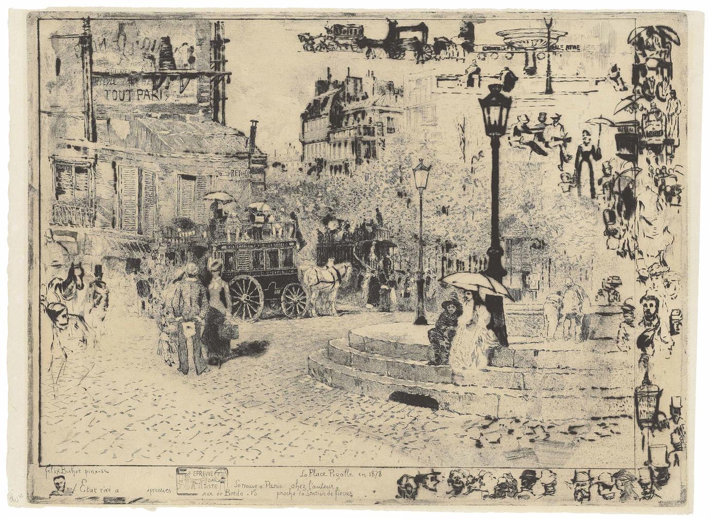 La Place Pigalle En 1878-1878