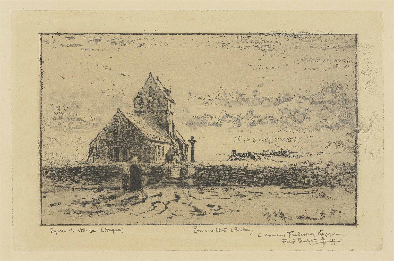 Eglise De Jobourg; Eglise de Jobourg; Embarcadere a Trouville-1887