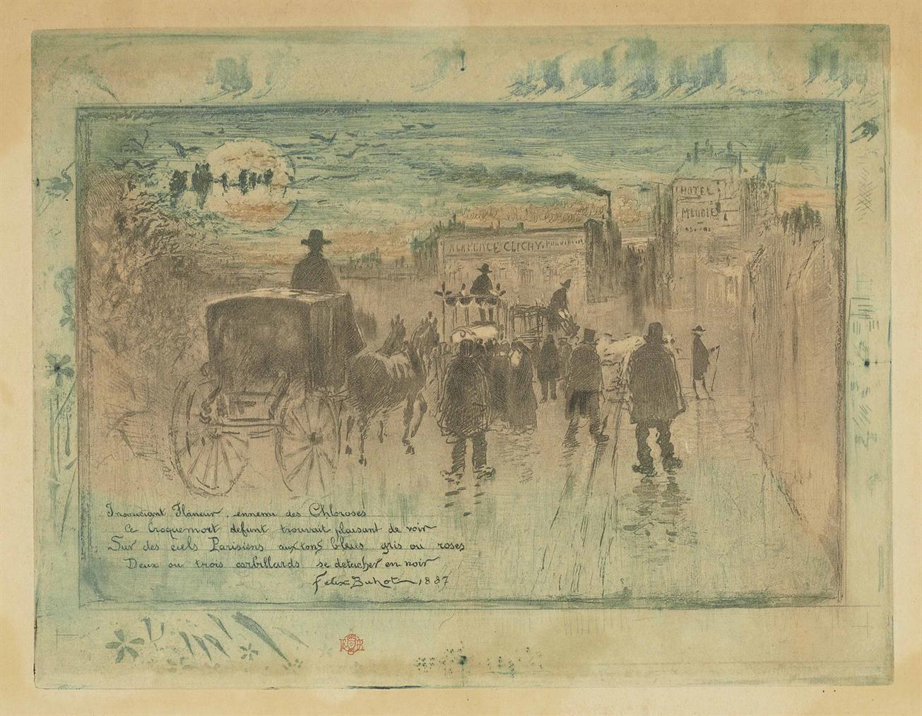 Convoi Funebre Au Boulevard De Clichy-1887