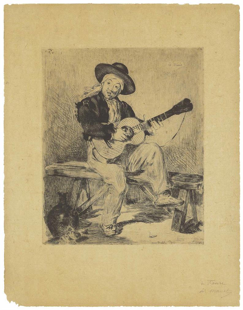 Edouard Manet-Le Chanteur Espagnol (Le Guitarero)-1861