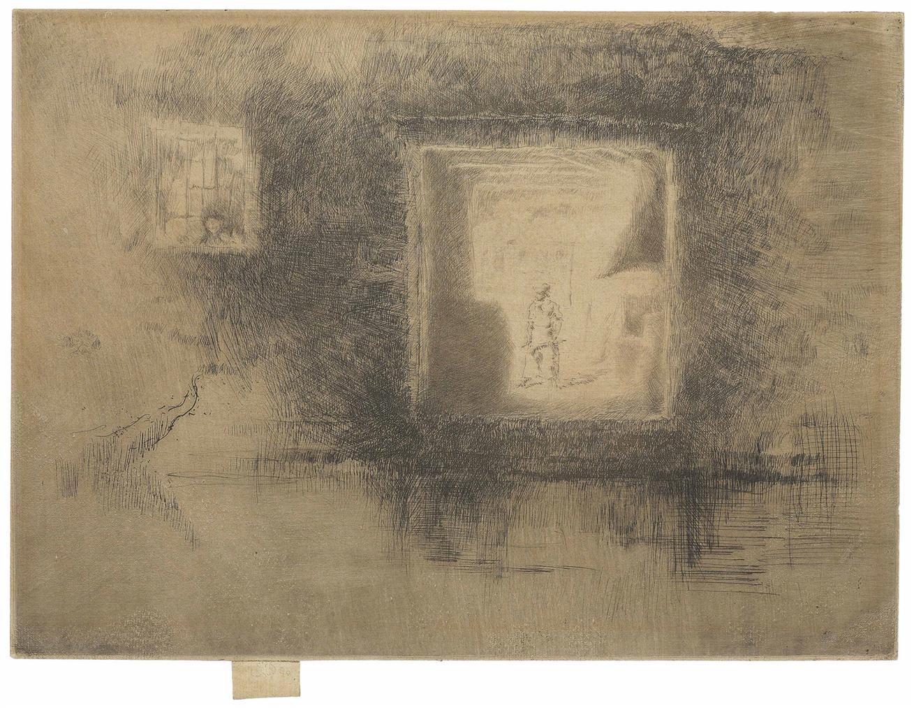 James Abbott McNeill Whistler-Nocturne: Furnace, From: The Second Venice Set-1880