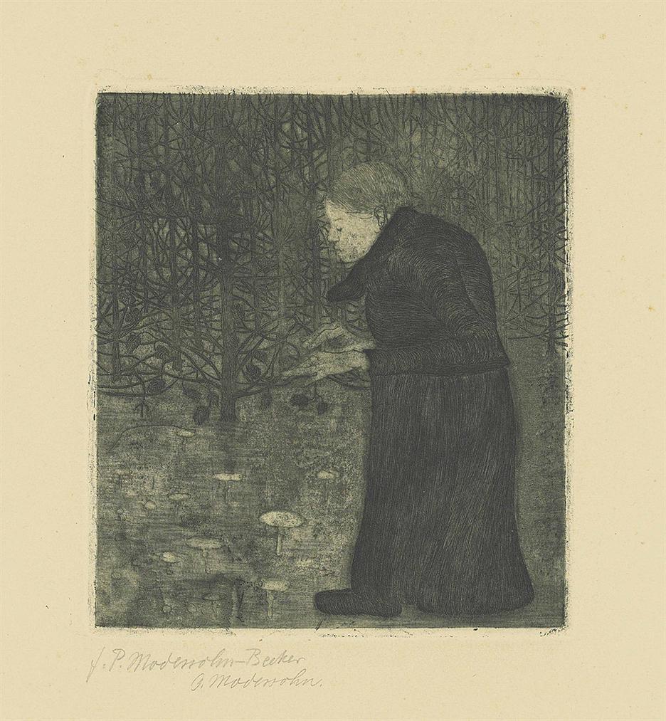 Paula Modersohn-Becker-Blinde Frau Im Walde-1900