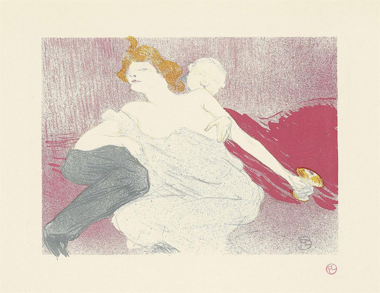 Henri de Toulouse-Lautrec-La Debauche (Deuxieme Planche)-1896