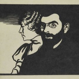 Felix Vallotton-Mogens Ballin Et Sa Femme-1898