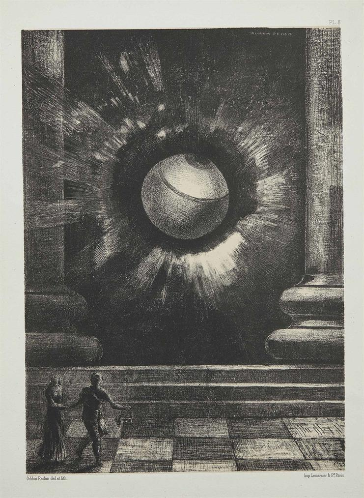 Odilon Redon-Vision, Plate VIII From: Dans Le Reve-1879