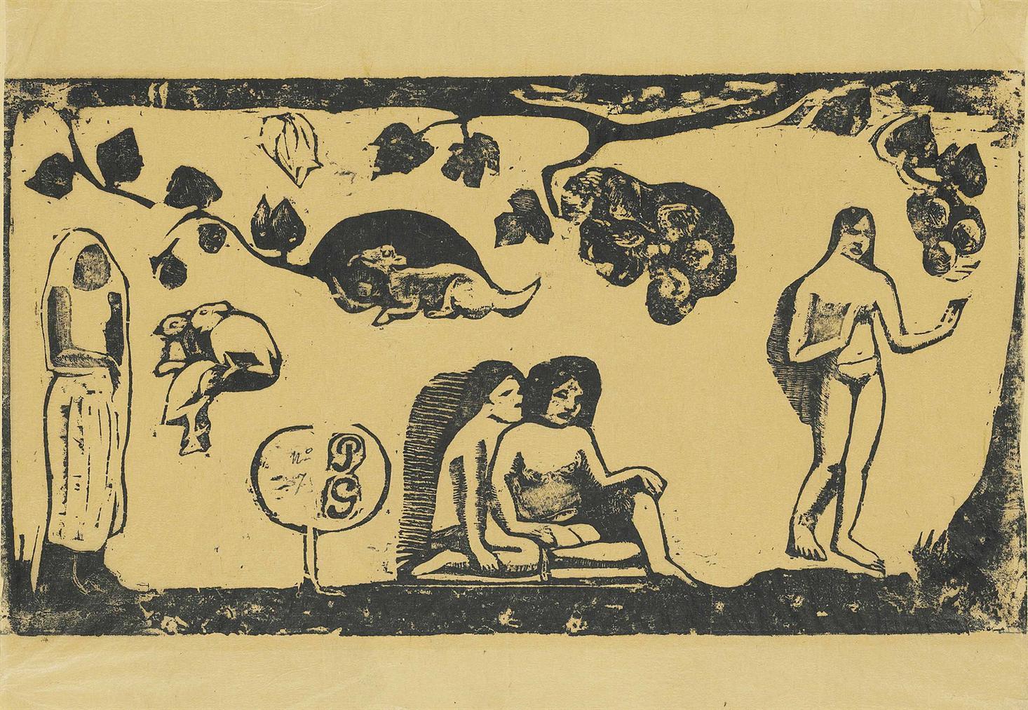 Paul Gauguin-Femmes, Animaux Et Feuillages-1898