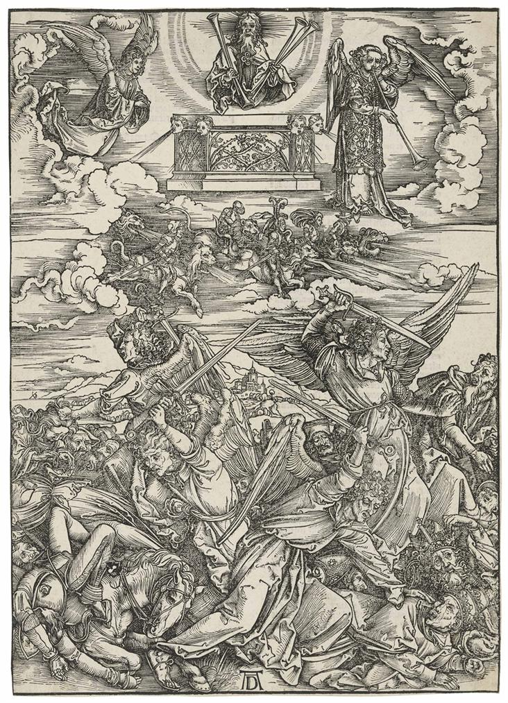 Albrecht Durer-The Four Avenging Angels, From: The Apocalypse-1498