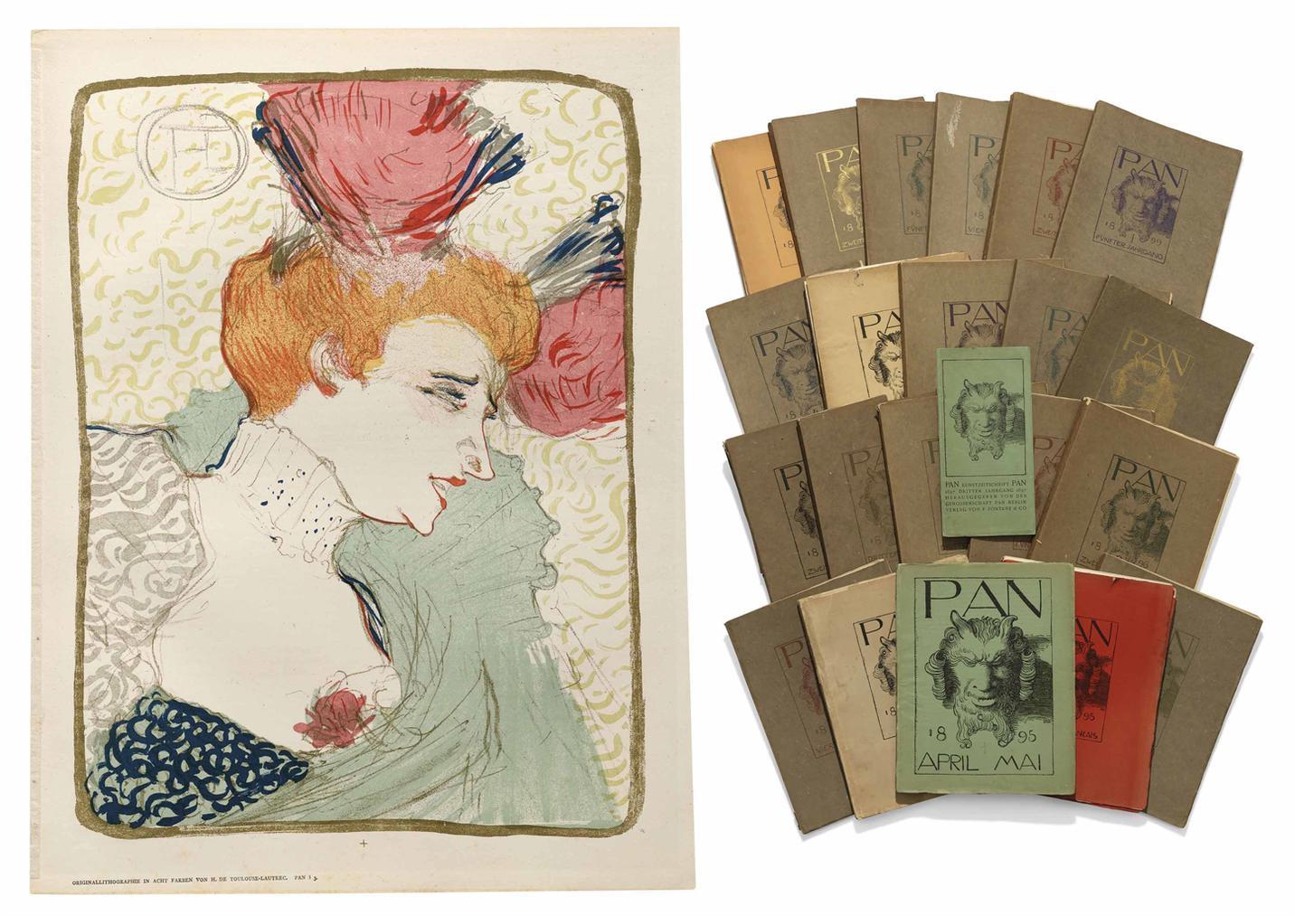 Henri de Toulouse-Lautrec-Mademoiselle Marcelle Lender, En Buste; the complete edition of PAN-1895