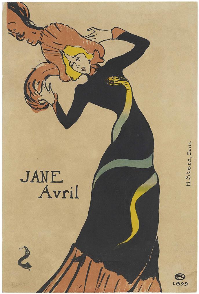 Henri de Toulouse-Lautrec-Jane Avril-1899