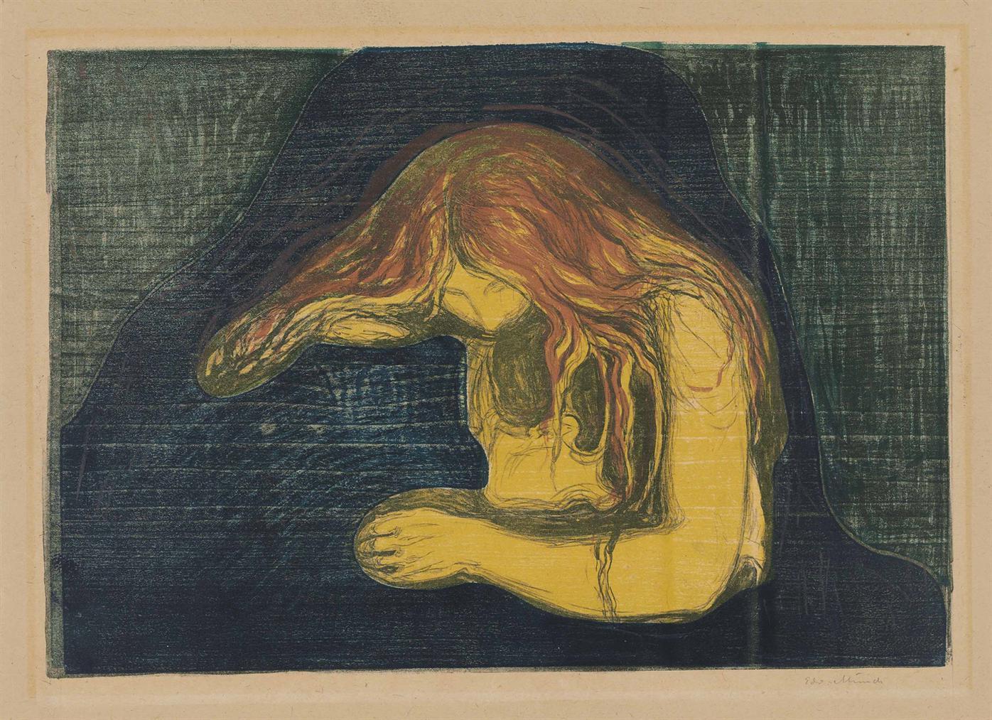 Edvard Munch-Vampire II-1902