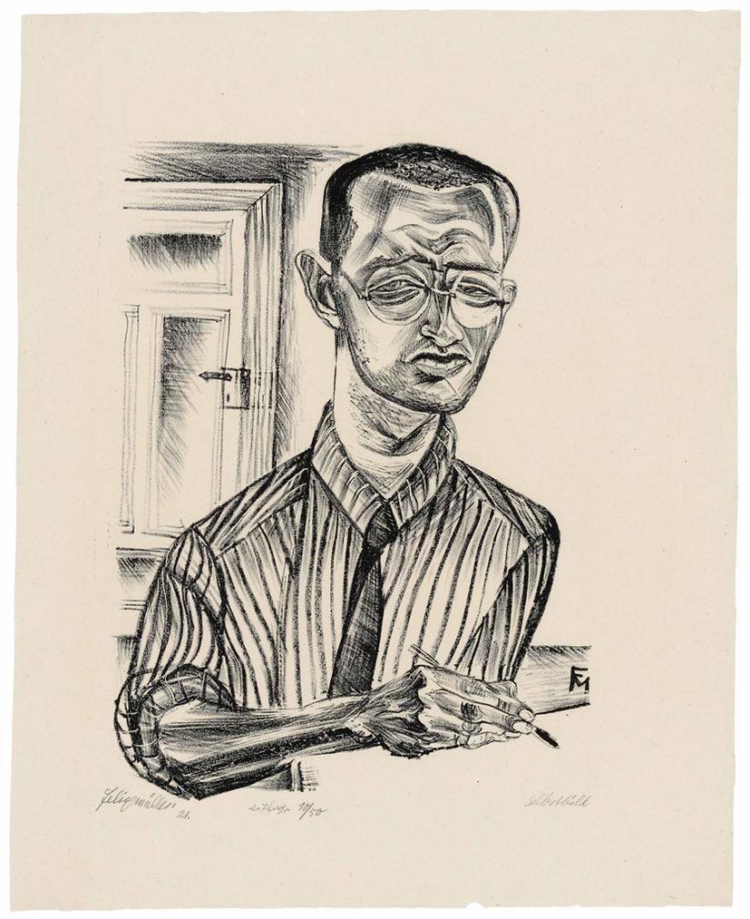 Conrad Felixmuller-Selbstbildnis-1921