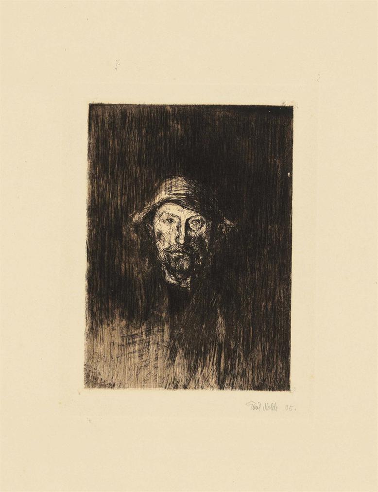Emil Nolde-Der Maler (Selbstbildnis)-1906