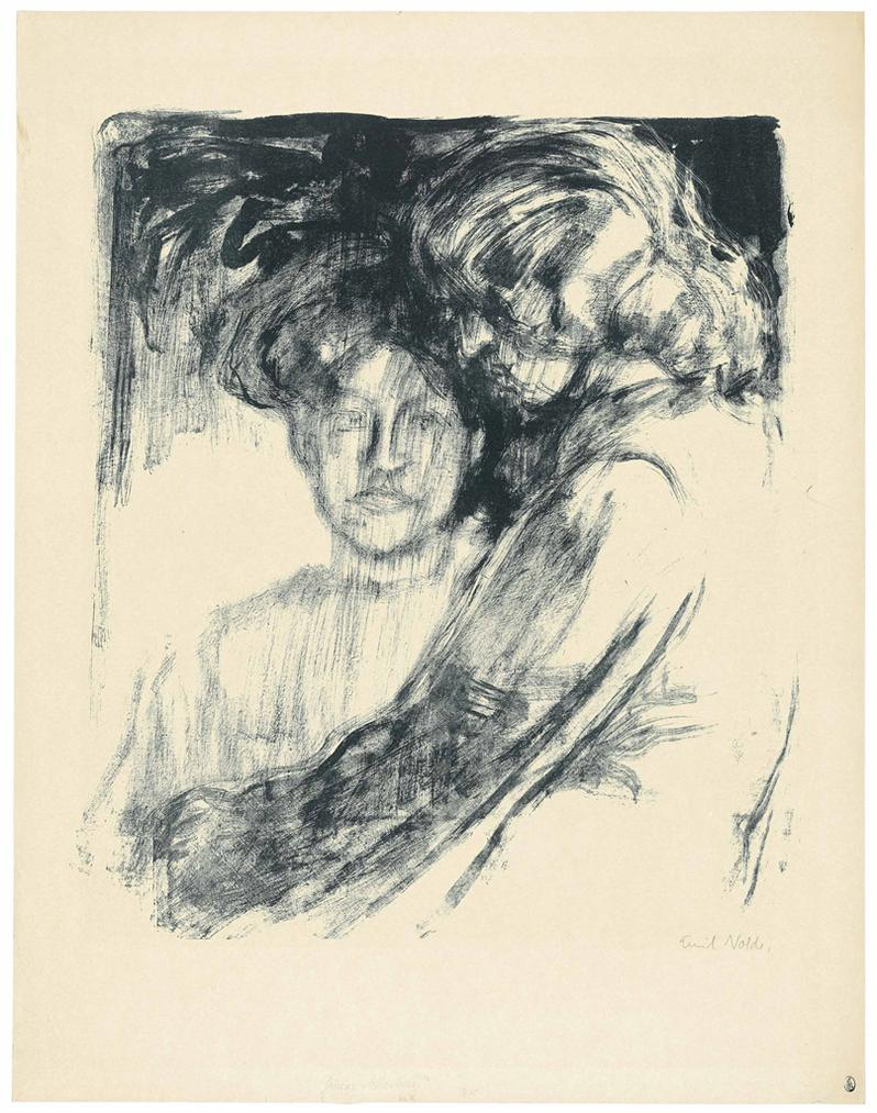 Emil Nolde-Junge Madchen (Ada Nolde Und Lis Vilstrup)-1907