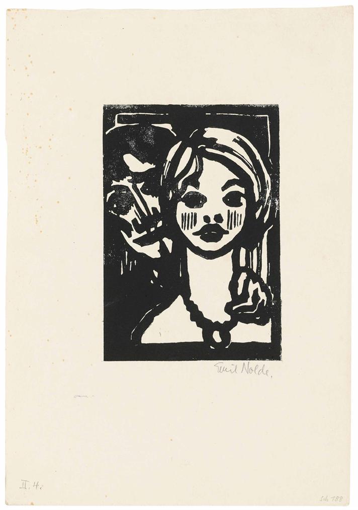 Emil Nolde-Mann Und Junges Madchen-1925