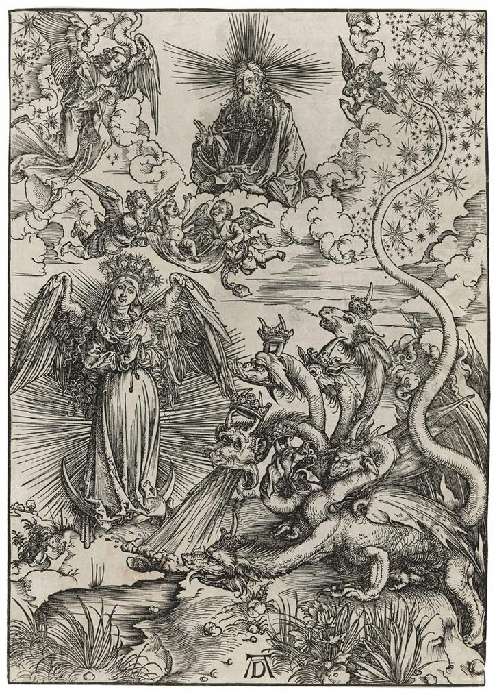 Albrecht Durer-The Apocalyptic Woman, From: The Apocalypse-1497