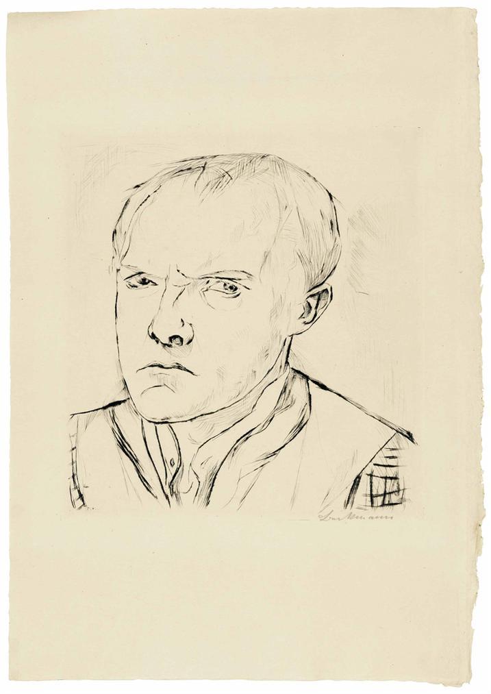 Max Beckmann-Selbstbildnis, From: Gesichter-1918