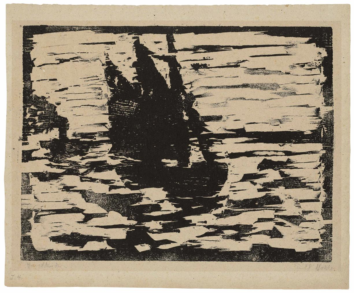 Emil Nolde-Segelboot-1910