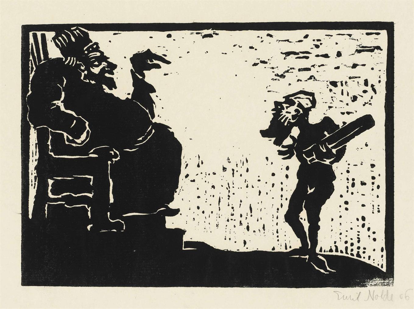 Emil Nolde-Konig Und Narr-1906