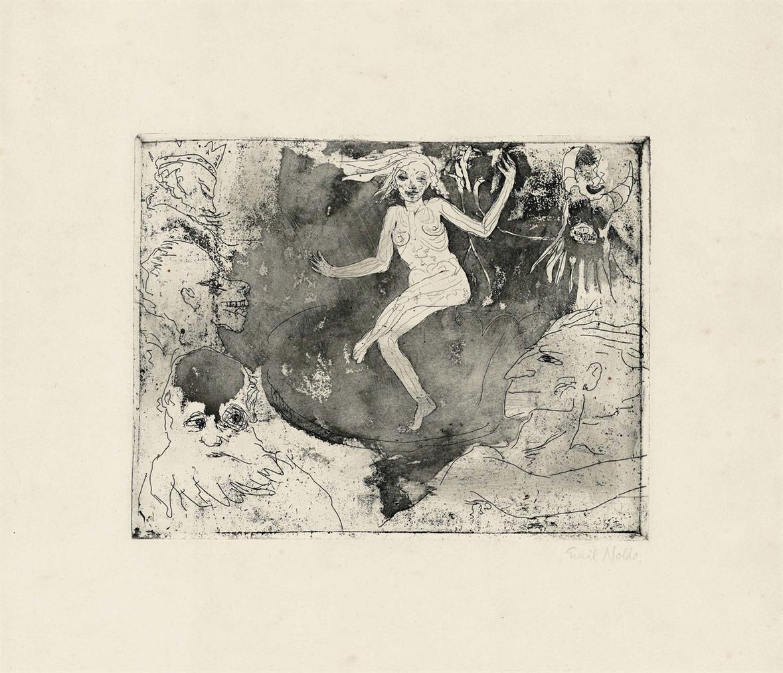 Emil Nolde-Der Tod Als Tanzerin-1918