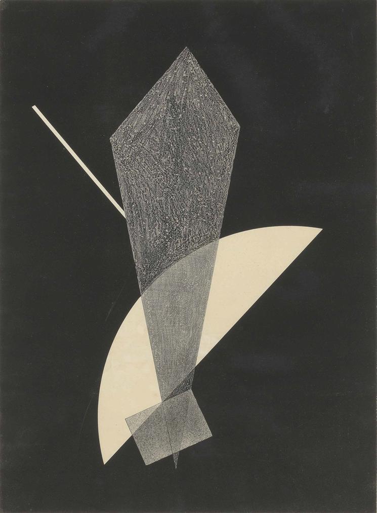 Laszlo Moholy-Nagy-Konstrucktion V, From: 6. Kestner-Mappe 6 Konstruktionen-1923