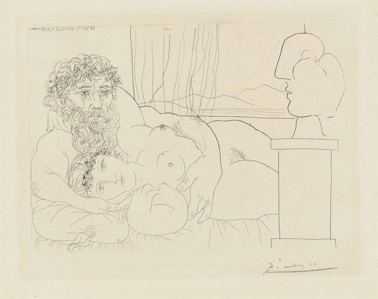 Pablo Picasso-Le Repos Du Sculpteur I, From: La Suite Vollard-1933