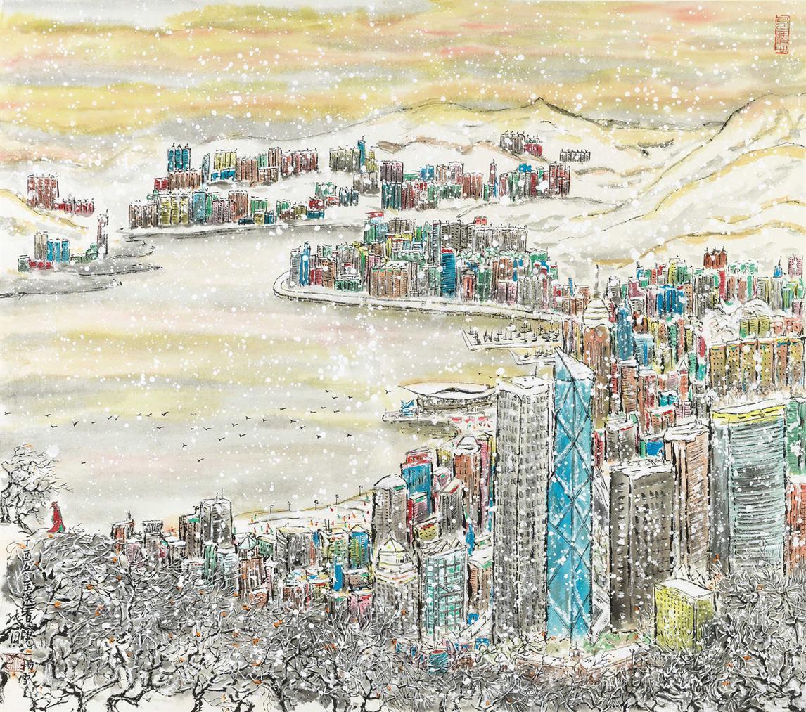 An Auspicious Snow To Hong Kong I-2017