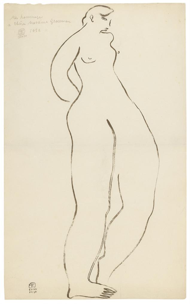 Sanyu-Standing Nude-1930
