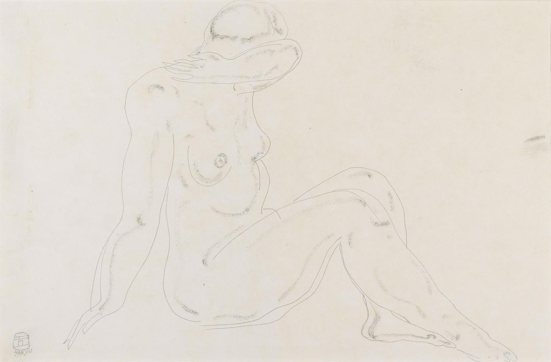 Sanyu-Sitting Nude-