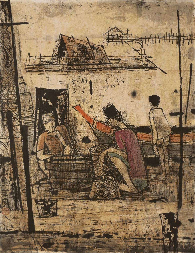 Cheong Soo Pieng-Fishermen-