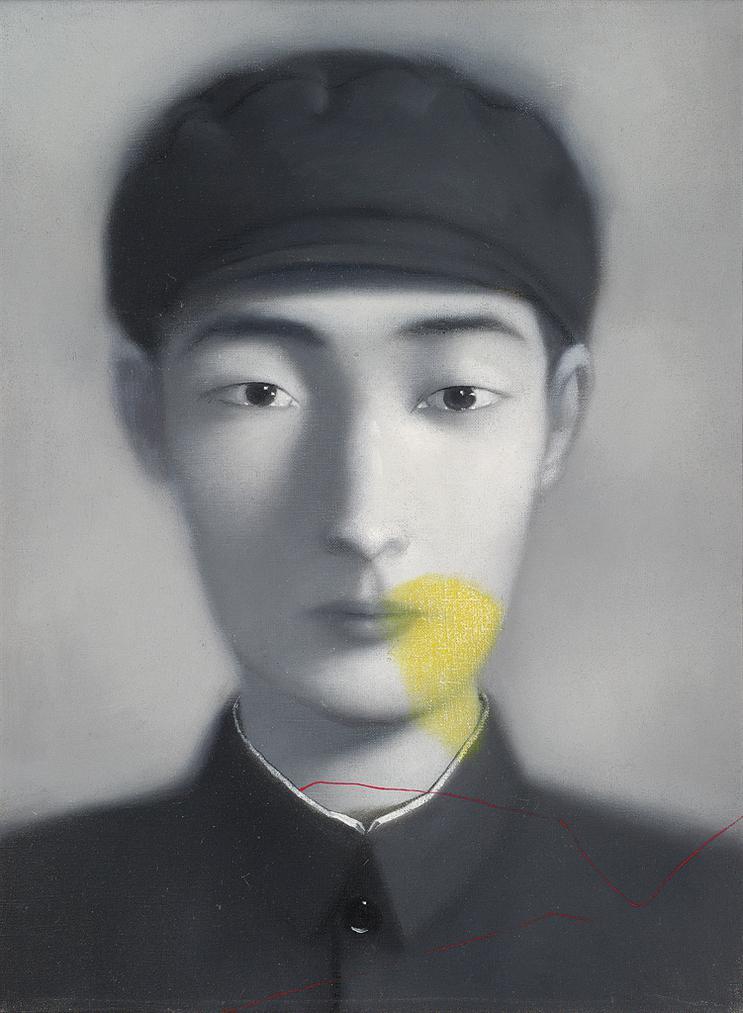 Zhang Xiaogang-Bloodline Series #20-1996