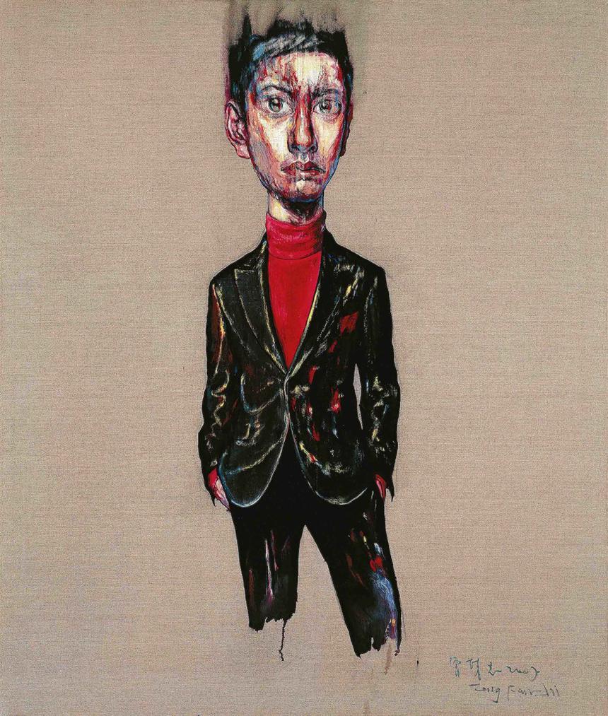 Zeng Fanzhi-Portrait 07-8-1-2007