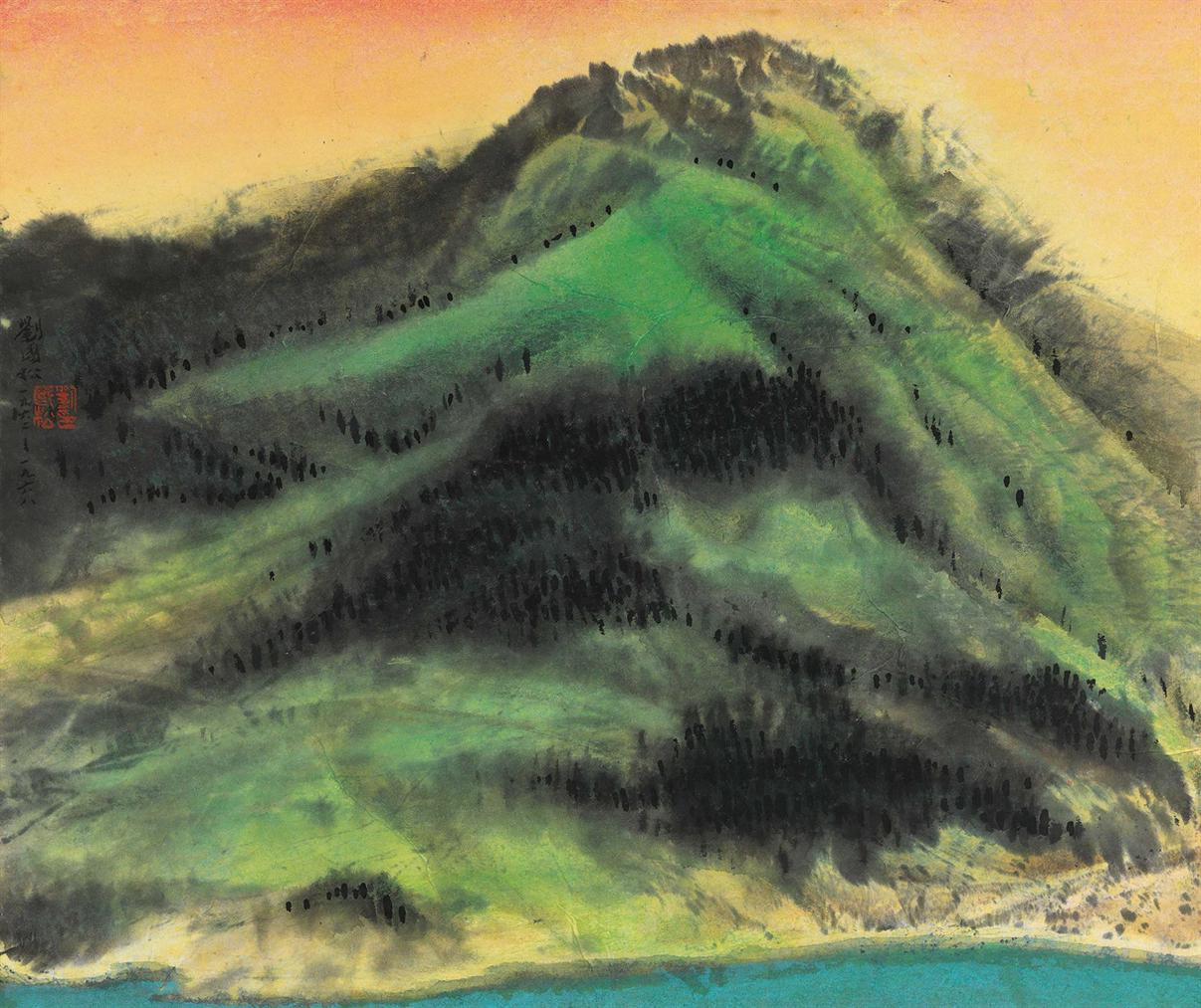 Liu Kuo-Sung-Spring Mountains-1968