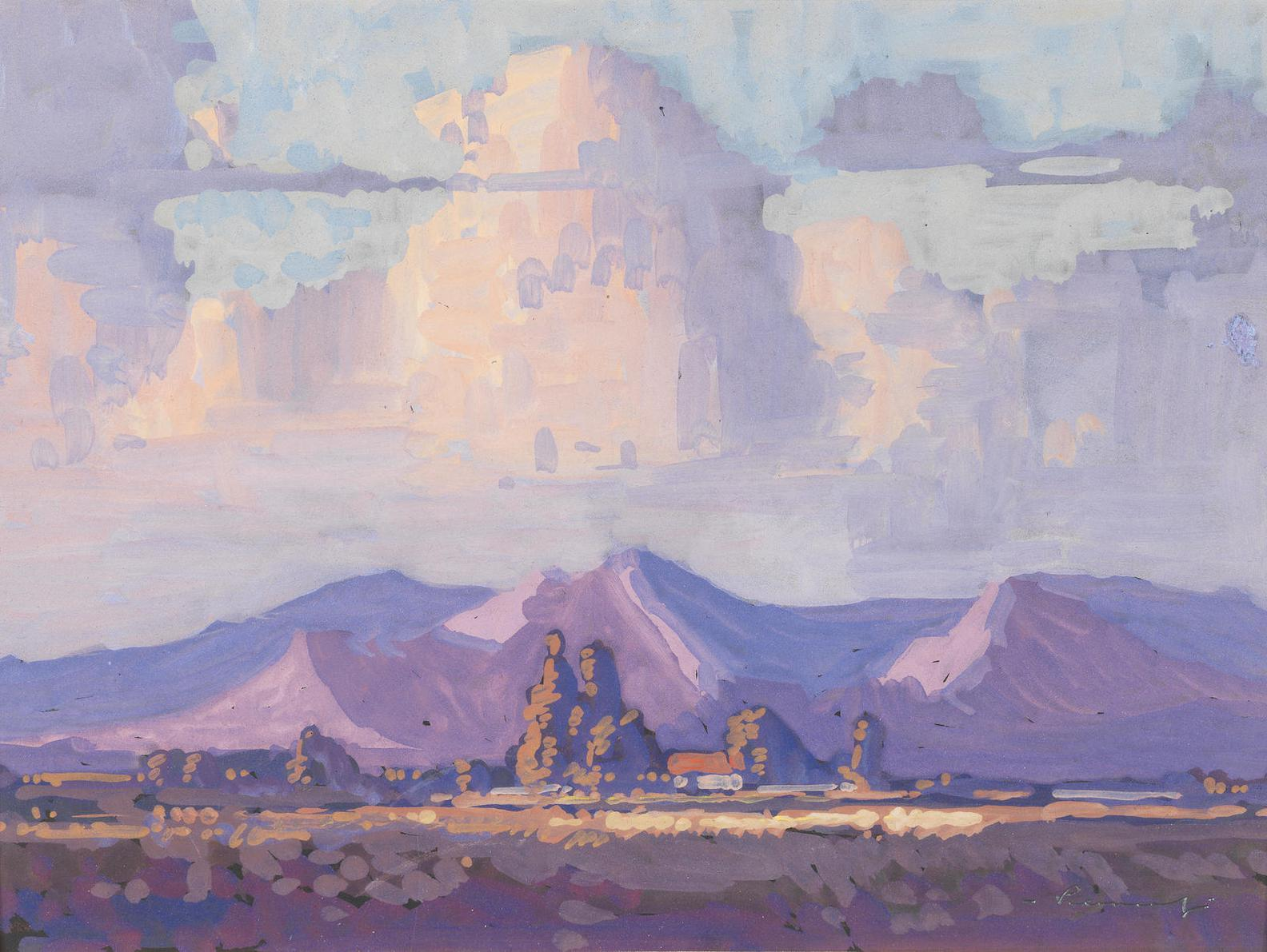 Jacob Hendrik Pierneef - Clouds Over Mountains-
