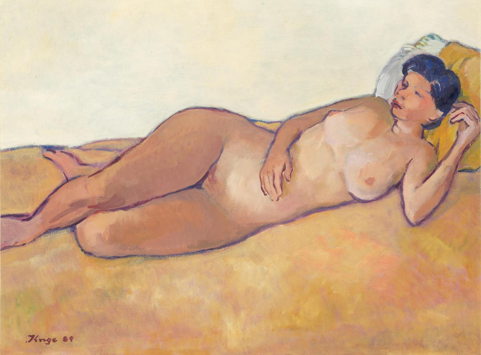 Francois Krige - Reclining Nude-1989