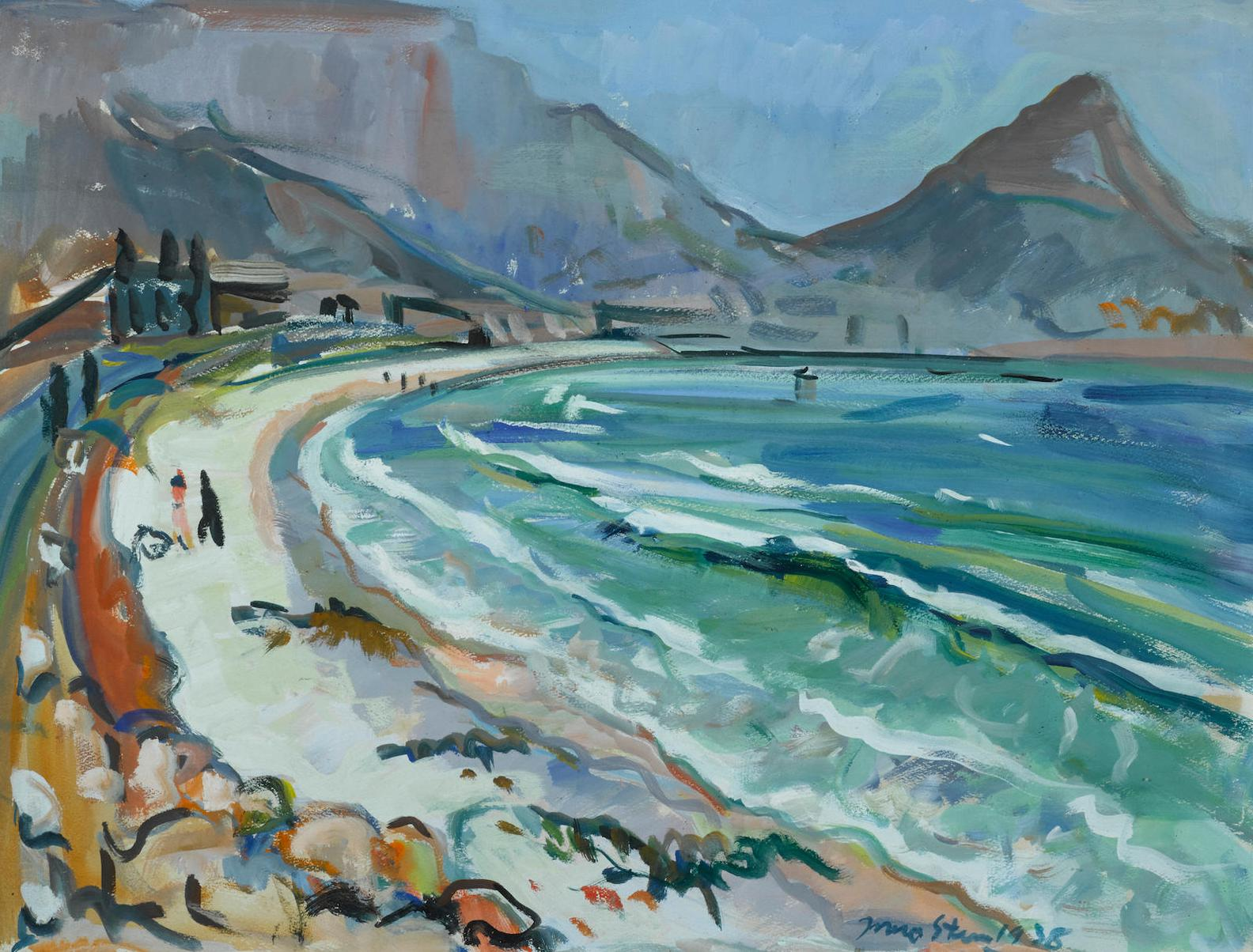 Irma Stern-Lions Head From Lagoon Beach-1938